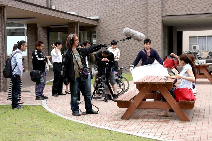撮影風景@茨城大学
